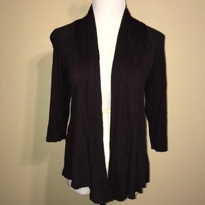 Brown Lightweight 3/4 Length Sleeve Cardigan